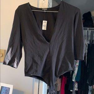 Express V Neck Bodysuit. New. Size L.